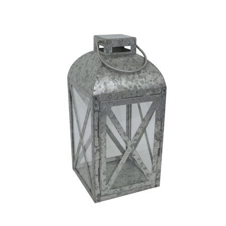 Mainstays Medium Galvanized Metal Candle Holder Lantern ()