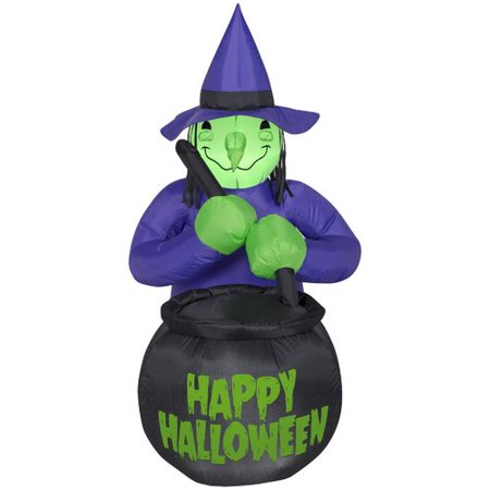 The Holiday Aisle Witch with Caldron ''Happy Halloween'' - Happy Halloween Holiday World
