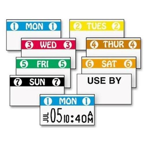 "Monarch Color Coded Label - Permanent Adhesive - ""1 Mon 1"" - 2500 / Roll - White, Blue - 1 Roll (925204)"