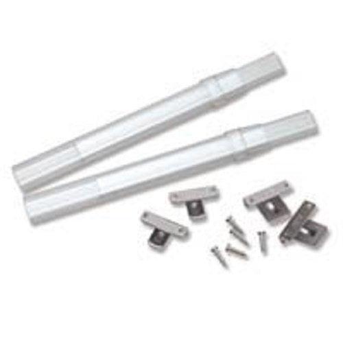 Set of 2 Graber 5//16-Inch Swivel End Sash Curtain Rod Set