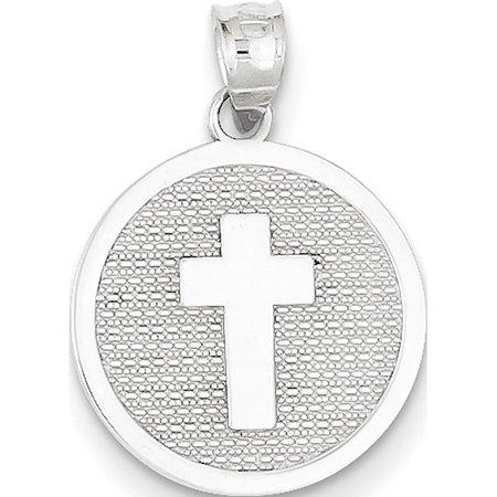 Leslies Fine Jewelry Designer 14k White Gold Reversible Cross & 1st Holy Communion (15x17mm) Pendant Gift](Gifts For First Communion Girl)