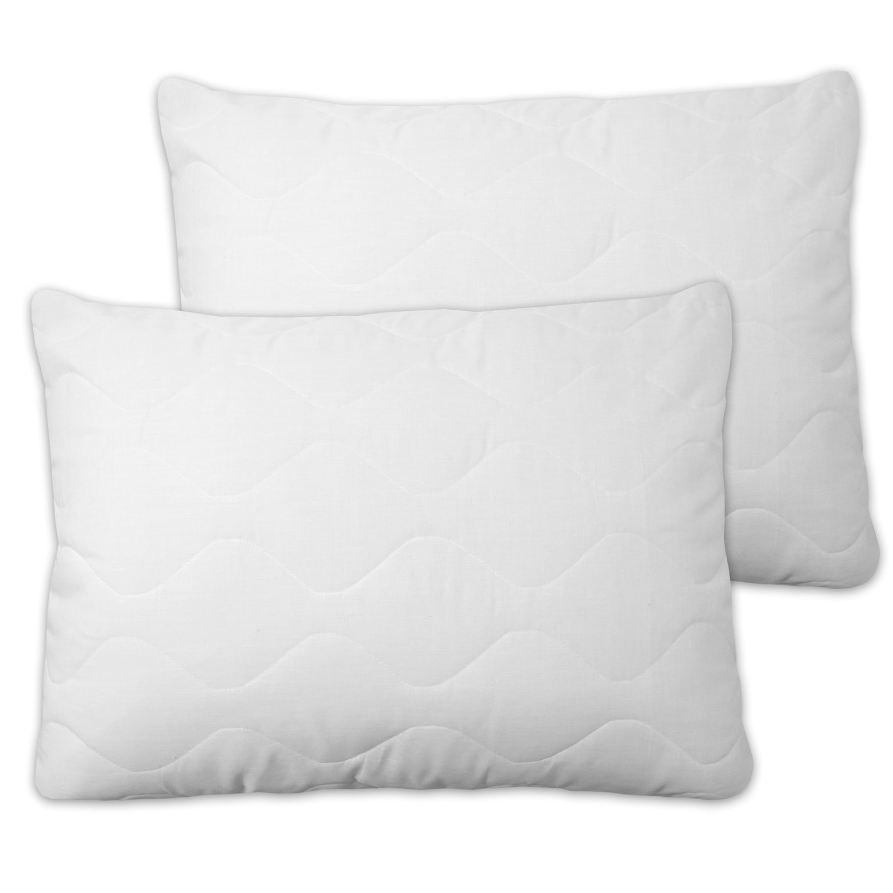 bed bath n more Quilted Pillow Protectors With Zipper (Set of 2) by Overstock