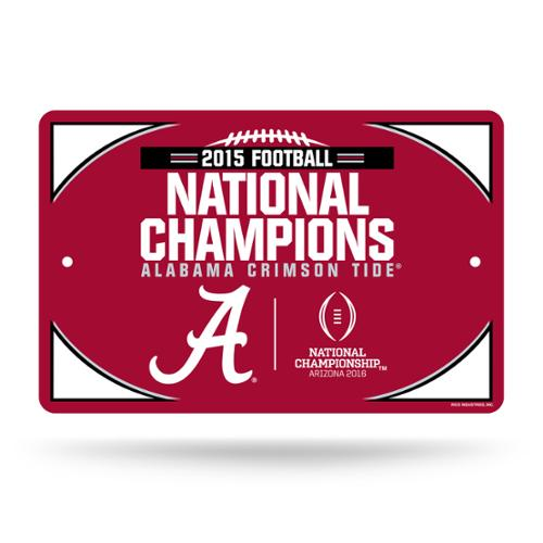 Alabama Crimson Tide Official NCAA 11 inch  x 17 inch  Plastic Sign by Rico
