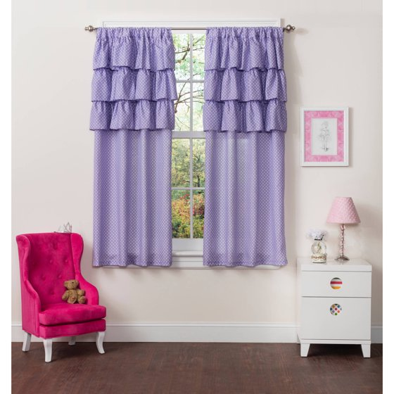 Mainstays Ruffle Girls Bedroom Curtains, Set of two - Walmart.com