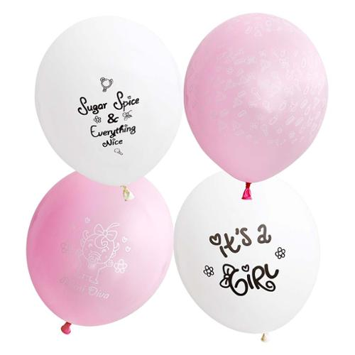 Bundle Monster Cute Pink 32pc Baby Shower Themed Party Decorations Balloons