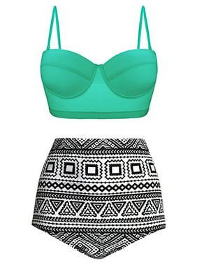 eaa32164e84 Product Image Women Sexy Two Piece Push Up Padded Bra Thong Swimsuit High  Waist Bikini Set Swimwear Bathing