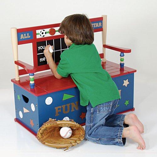 Wildkin Wildkin Kids All Star Sports Bench Seat with Storage by Levels of Discovery LLC