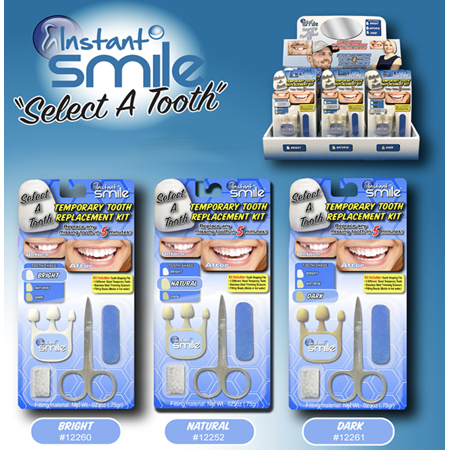 Instant Smile Select A Tooth Temporary Tooth Replacement Kit- Dark - image 1 de 2