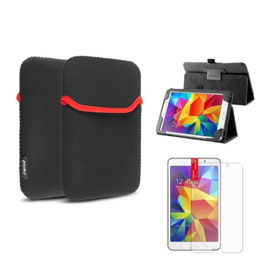 "Insten Black Leather Stand Case+Matte Screen Protector+Sleeve Bag For Samsung Galaxy Tab 4 7.0 7"" T230"
