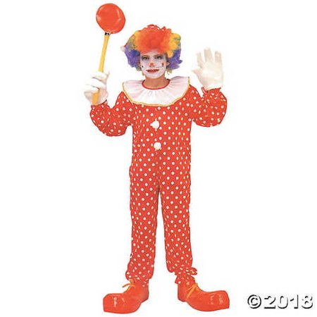 UHC Deluxe Circus Clown Jumpsuit Funny Theme Party Kids Halloween Costume, L (10-12)](Clown Jumpsuit)