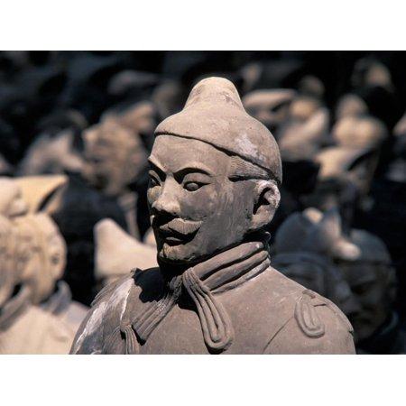 Emperor Qins Terra Cotta (Terra Cotta Warriors at Emperor Qin Shihuangdi's Tomb, China Print Wall Art By Keren Su)