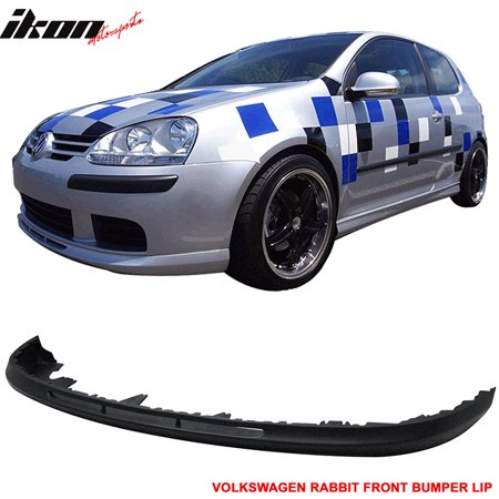 Urethane 06-09 VW Golf 5 MK5 Rabbit V-Style Front Bumper Lip Spoiler Body Kit (Lip Spoiler Kit)