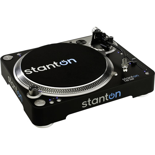 Stanton T92USB Straight Arm Direct-Drive DJ Turntable with 500.v3 Cartridge by Stanton
