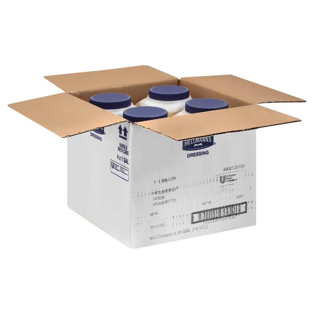 4 PACKS : Hellmans Greek Vinaigrette Dressing 1 Gallon --...