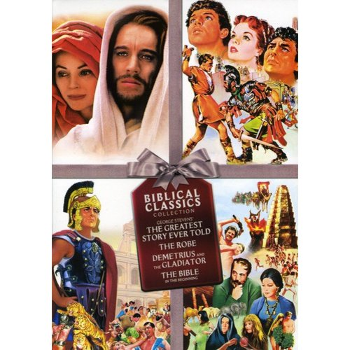 Biblical Classics Collection: The Bible / The Robe / The Greatest Story Ever Told / Demetrius And The Gladiators (Widescreen)