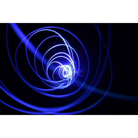 LAMINATED POSTER Light Space Star Spiral Energy Glow Fractal Art Poster Print 24 x 36
