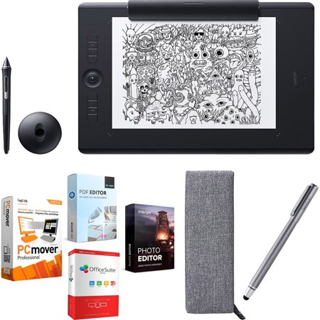 Wacom Intuos Pro Large Paper Bundle w/ Extra Stylus and Elite Suite 18 Standard Editing Software