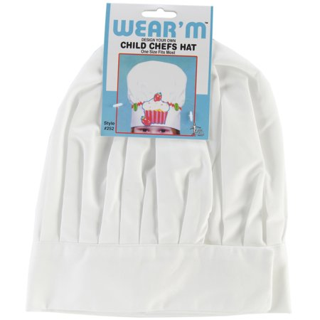Wear'M Design Your Own, Child Chefs Hat, White - Chef Hat Personalized