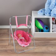"""2-in-1 Baby Doll Swing and Carrier Toy- Fits 13"""" Babies, Dolls & Stuffed Animals by Hey! Play!"""