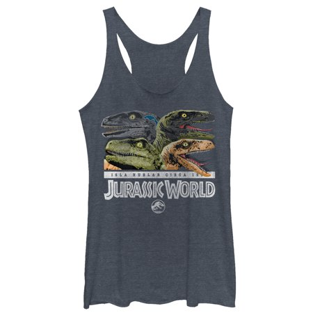 - Jurassic World Women's Isla Nublar Raptor Party Racerback Tank Top