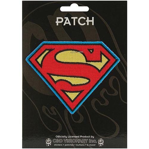 "DC Comics Super Hero Patches Iron-On Applique Patch, Superman Insignia, 4"" x 4"" x 4"""