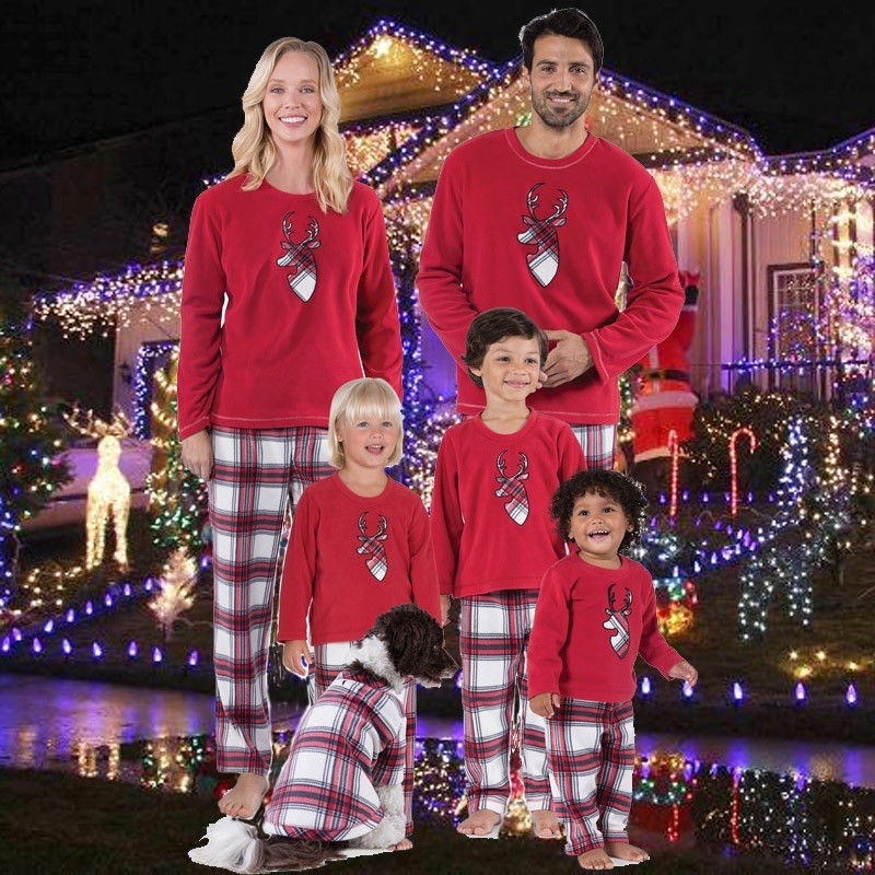 Meihuida - Family Matching Christmas Pajamas Set Women ...