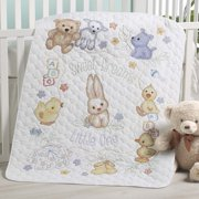 Plaid® Playful Pals Baby Quilt Stamped Cross-Stitch Kit