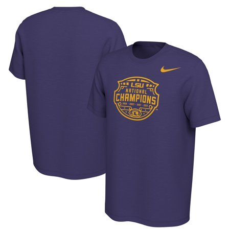 Halloween Ideas 2019 Male (LSU Tigers Nike College Football Playoff 2019 National Champions Celebration Official Logo T-Shirt -)