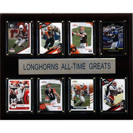 C&I Collectables NCAA Football 12x15 Texas Longhorns All-Time Greats Plaque