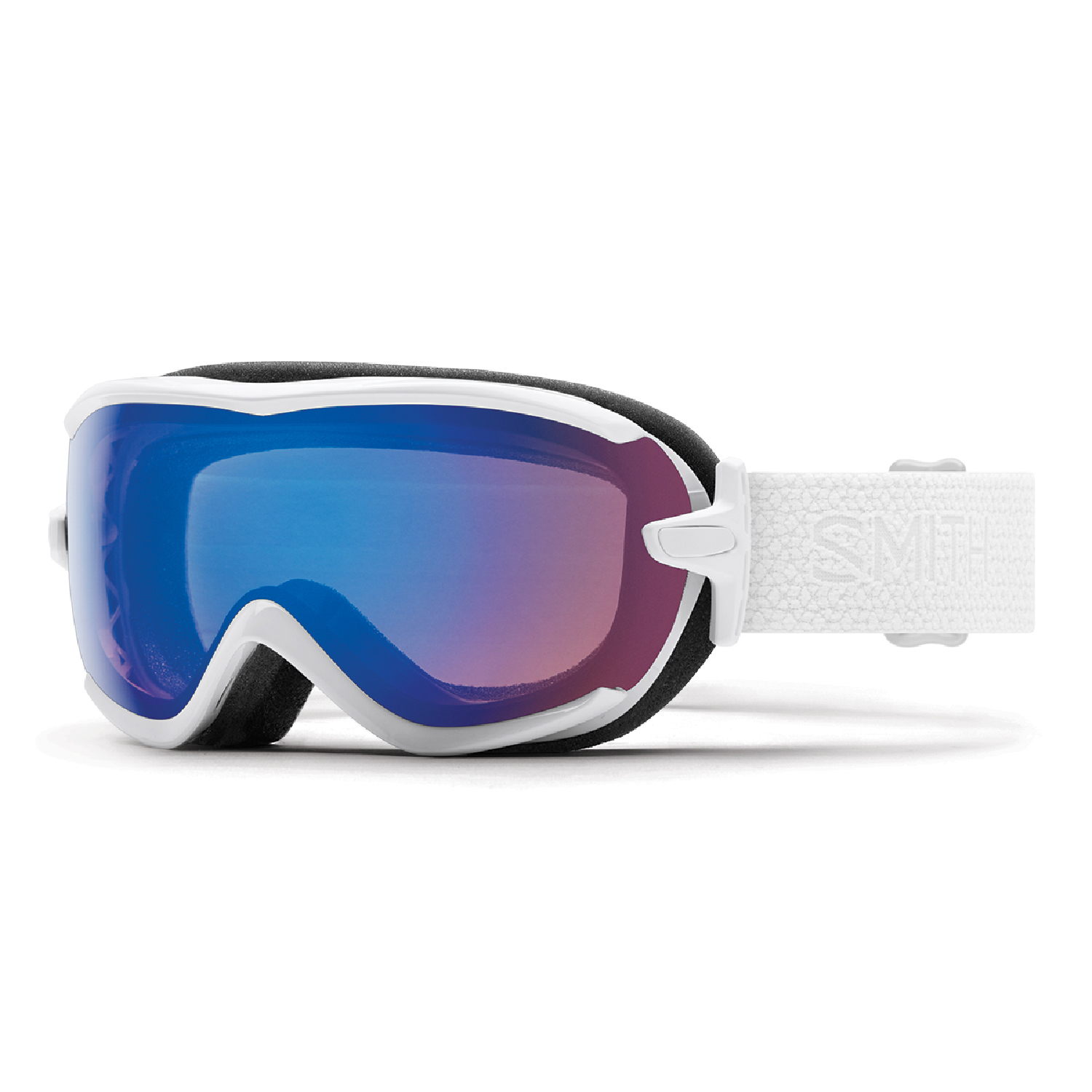 Smith Optics 2018 Virtue (White Mosaic ChromaPop Storm Rose Flash) Women's Snowboard Goggles by