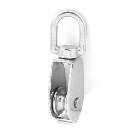 Unique Bargains 20mm Dia Stainless Steel Sheave Swivel Eye Wire Rope Hoist Pulley Wheel Block