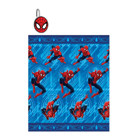 Disney Spider-Man 13 Piece Printed Shower Curtain Set With Matching Hooks- 1 Shower Curtain 72