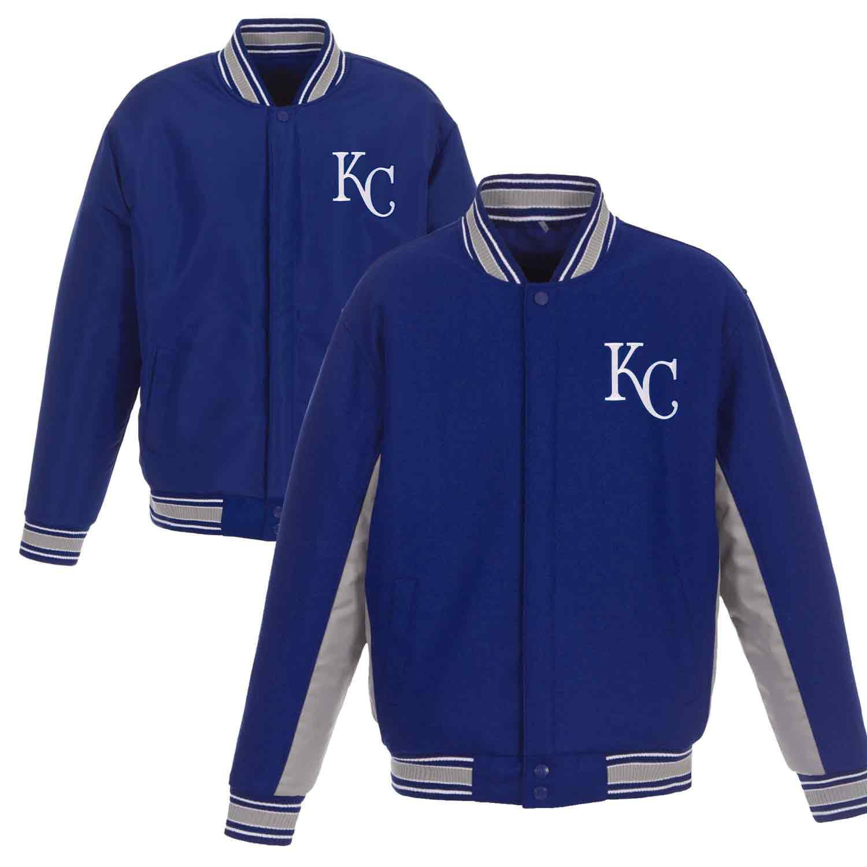 Kansas City Royals JH Design Wool Poly-Twill Accent Jacket - Royal