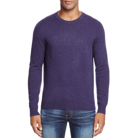Bloomingdales 2 Ply Cashmere Crewneck Sweater Blueberry Purple Medium M