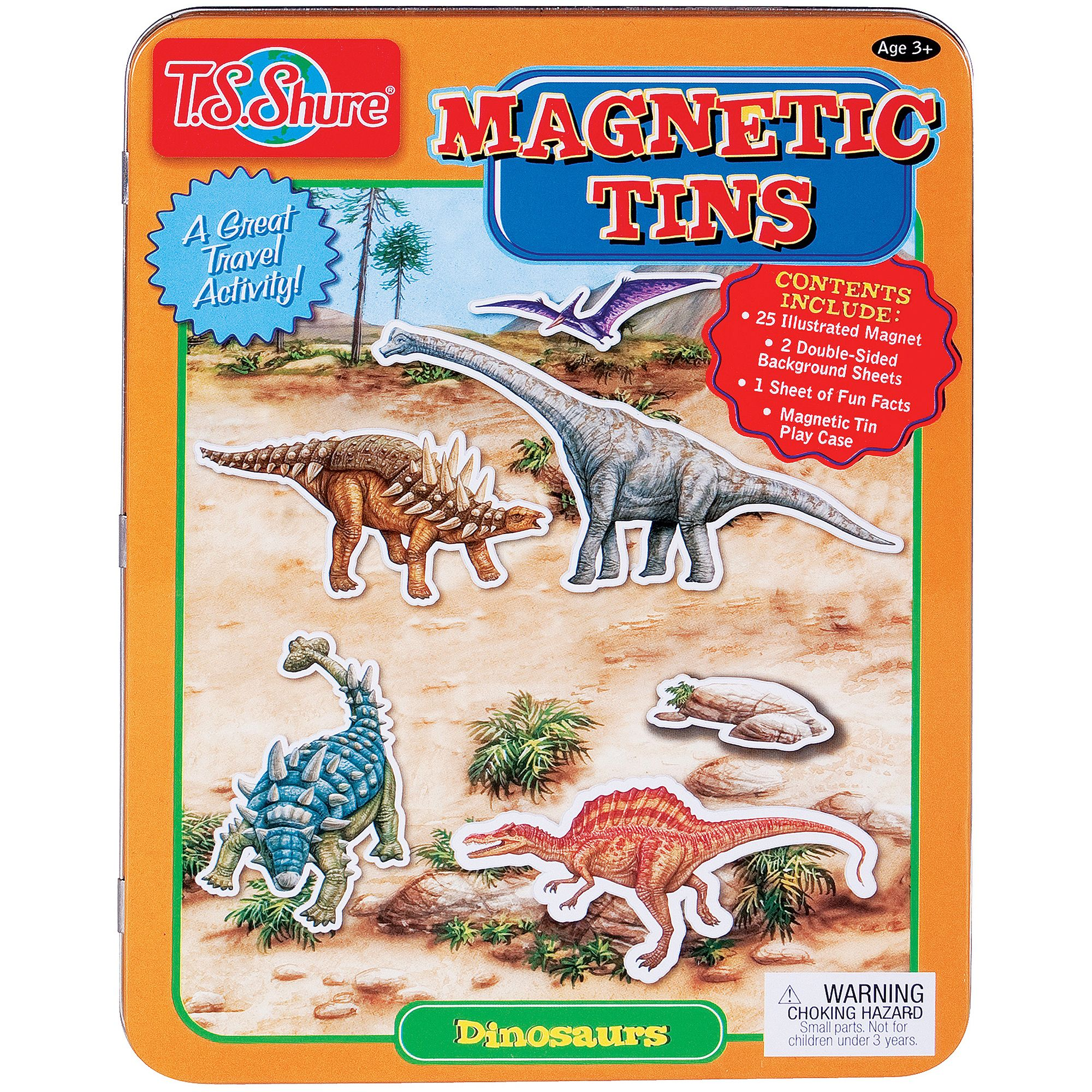 T.S. Shure Dinosaurs Magnetic Tin Play Set