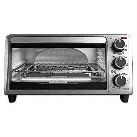 Black & Decker 4-slice Toaster Oven Toast, Cooking Black (to1303sb) by