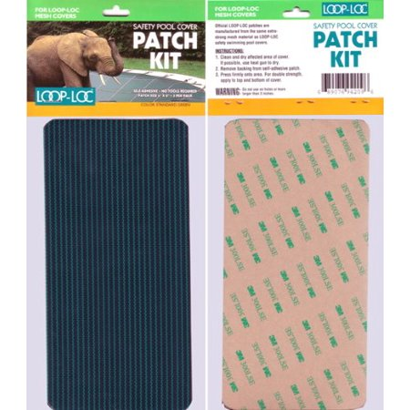 Loop Loc Mesh Patch Kit - Incls. 3- 4 Inch X 8In Adhesive Transfer Patches For Loop Loc Mesh Safety Covers Loop Loc Patch