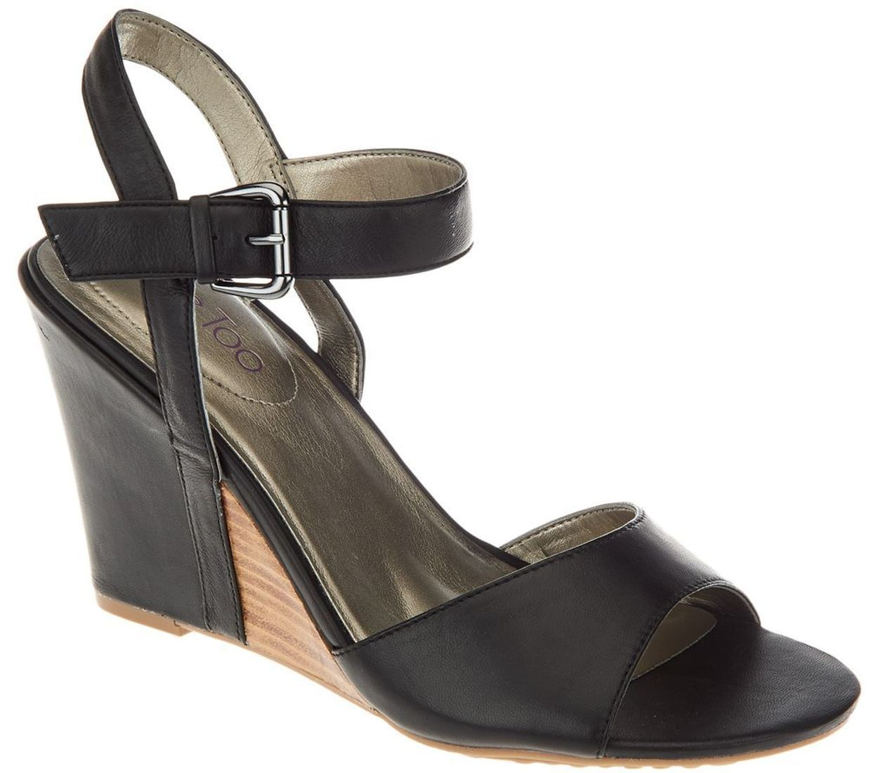 Me Too Leather Wedges Ankle Strap Lucie A264785 by