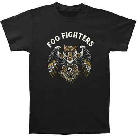 Foo Fighters Men's  Owl Mens Soft T Slim Fit T-shirt