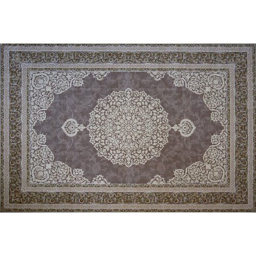 Astoria Grand Mader Hand Look Persian Wool Brown/Ivory Area Rug