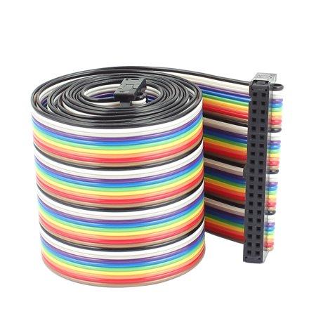 Breadboard Jumper Wire (F/F 40P 2.54mm Pitch Colored Flexible Breadboard Jumper Wire 1.28 Meter)