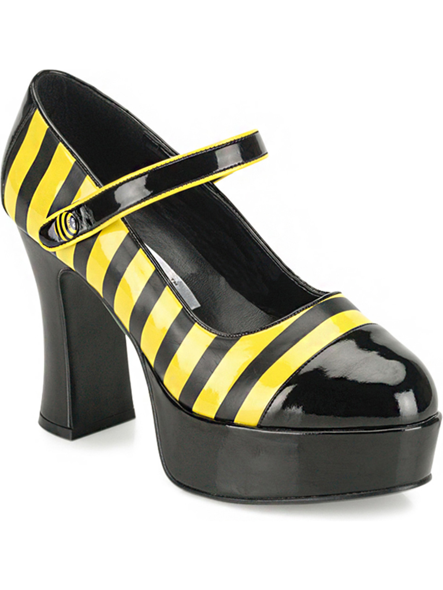 BEE Shoes Animal Bumble Striped Flats Dress Up Halloween Adult Costume Accessory