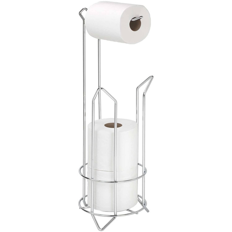 "Bath Bliss Chrome Toilet Paper Dispenser Holder, 6.30"" x 6.30"" x 24.02"" by Kennedy International, INC."