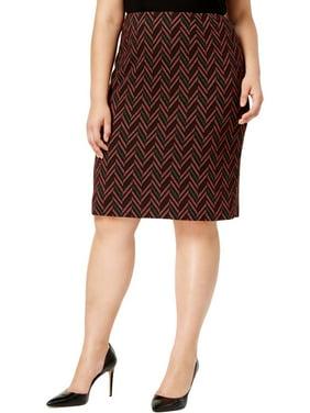 5fb7e6d890 Product Image Kasper Womens Jacquard Knee-Length Pencil Skirt