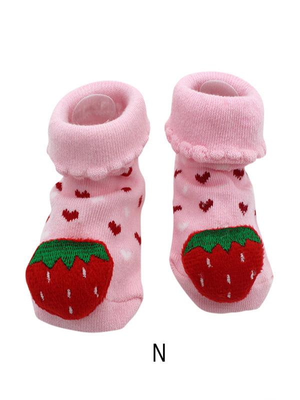 Baby Toddler Cotton Warm Sock Shoes Newborn Anti Slip Sock Shoes Cartoon Slipper