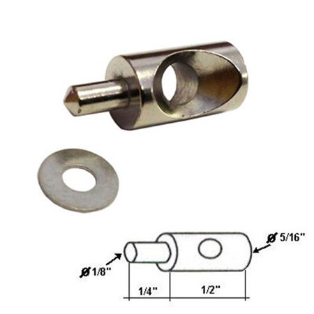 """Stainless Steel Hinge Pin 5/16"""" Dia. and washer for Continuous Hinge Framed Shower Enclosure"""