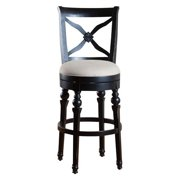 AHB Livingston Swivel Bar Stool - Antique Black