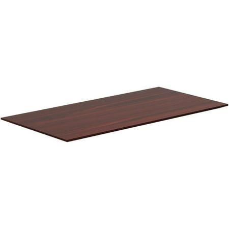 1 x 60 x 24 in. Height-Adjustable Knife Edge Tabletop - Mahogany Wood Edge Tabletop