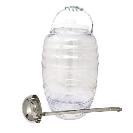 Vitrolero Water Jug Juice Beverage Container With Lid & 16oz Ladle Combo