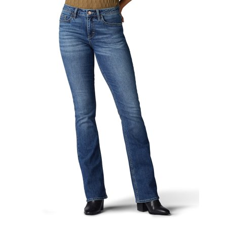 Women's Midrise Bootcut Jean (Quilted Womens Jeans)